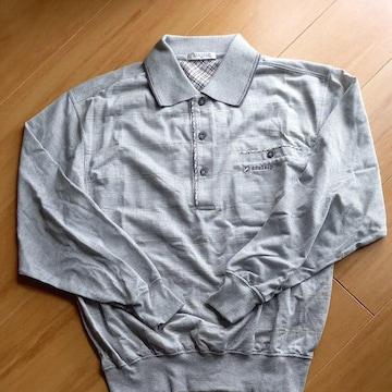 Mサイズ グレー長袖シャツNo.1133
