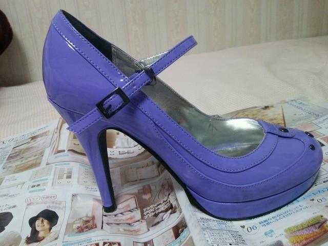 送料半額Lipserviceストラップ&○スタッズ綺麗な紫♪ヽ(´▽`)/  < ブランドの