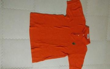 オレンジ 半袖 ポロシャツ
