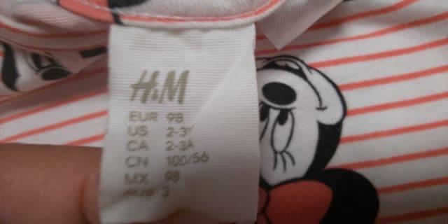 H&M★ミニーT★98 < ブランドの