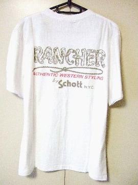 ‡Schott‡ショット‡新品‡バックプリント‡Tシャツ‡全国送料無料‡
