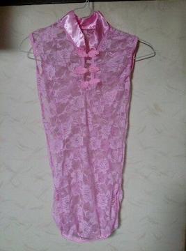 レース 薔薇柄 ミニチャイナ服  ティーバック付き 新品