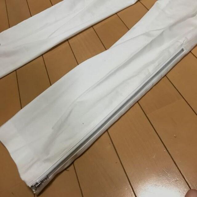 ファスナーでラインが変化 ストレッチパンツ ホワイト W64 < 女性ファッションの