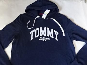 USA購入【TOMMY HILFIGER】薄手パーカーUS M紺