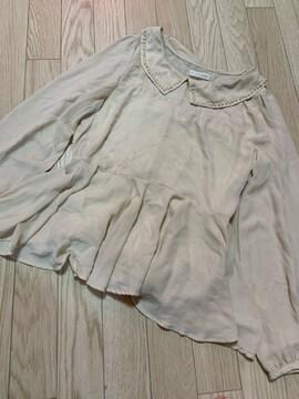 N468/LOWRYSFARM/ベージュ/長袖/カットソー/