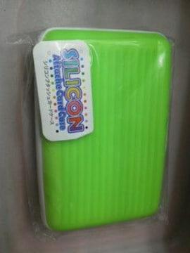 新品シリコンアタッシュカードケース(グリーン)