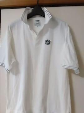 送料無料 メンズ半袖ポロシャツ 白 綿100% メンズトップス