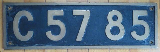 名機「貴婦人」C57型蒸気機関車の実装プレート「C5785」  < ホビーの