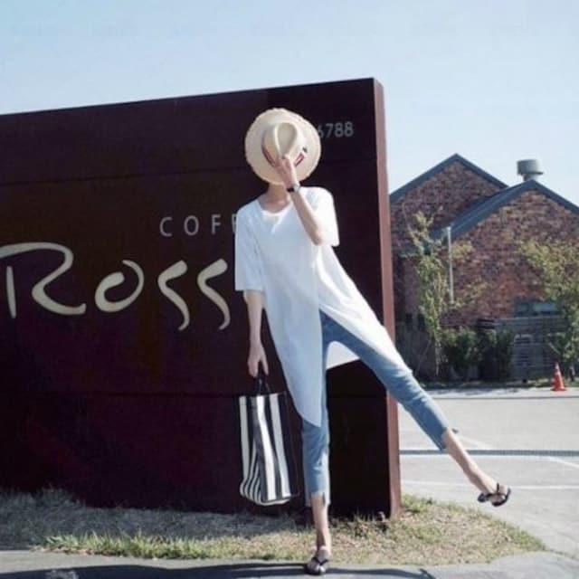 Y58即決 新品 ロング Tシャツ 白 XL ザラ マウジー GU セシル ユニクロ 好きに < 女性ファッションの
