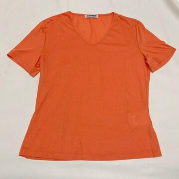 ジルサンダーJILSANDERオレンジVネックTシャツ#M