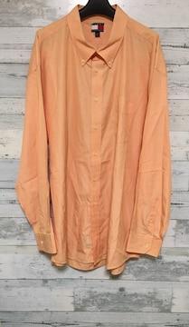 Tommyトミーワンポイントロゴオレンジロングシャツ