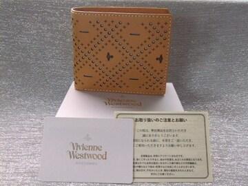 新品箱付■ヴィヴィアン■カット&スラッシュ 牛革メンズ財布¥27000