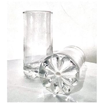 まとめ売り*花形入りタンブラーグラス*6個セット*昭和レトロ