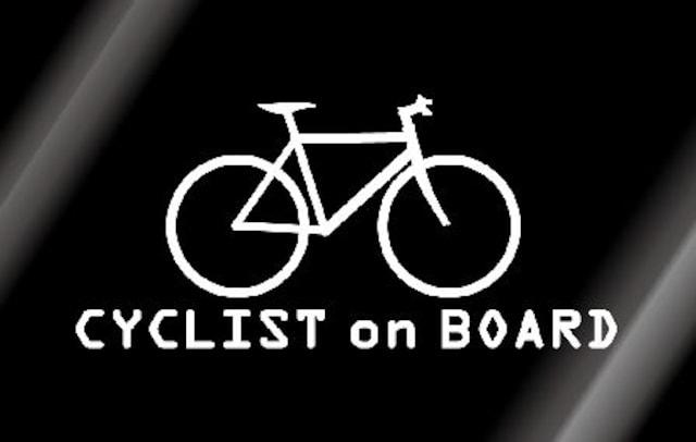 ☆自転車乗りサイクリストが乗ってますステッカー!クロスバイク  < レジャー/スポーツの