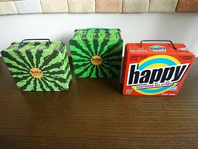 SAS祭り�Iサザンオールスターズ『スイカ缶+happy缶』缶のみ3個  < タレントグッズの
