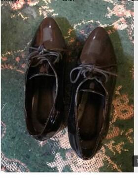 〓色鞋 サイズ23 エナメルシューズ