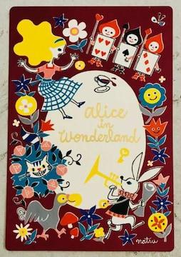 新品/不思議の国のアリス/ポストカード1枚/クリックポスト