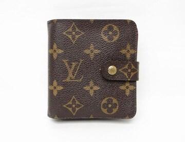 ルイヴィトン M61667 モノグラム コンパクト・ジップ 二つ折り財布【送料無料】