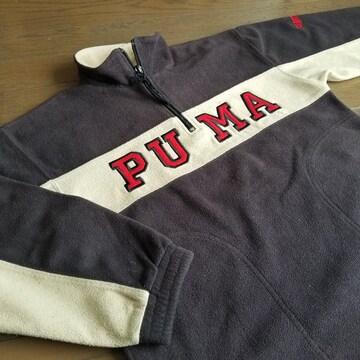 ★PUMA製 プーマ Jrジュニア用130�aハーフジップフリース