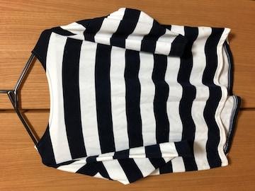 毛玉有り CLOSSHI しまむら 七分袖 ボーダーシャツ L
