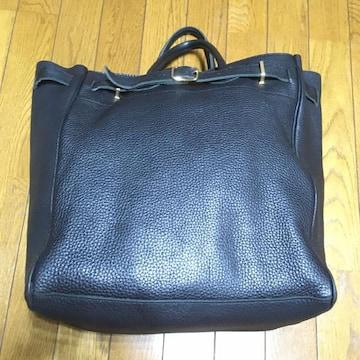 ヤング&オルセン レザートートバッグ 黒 別注品