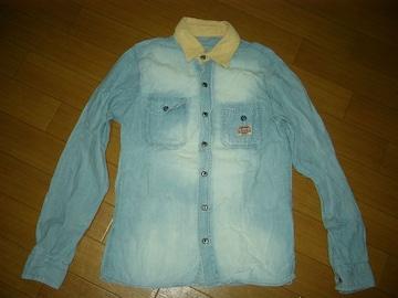 MARBLESマーブルズ加工ワークシャツSシャンブレー系TMT