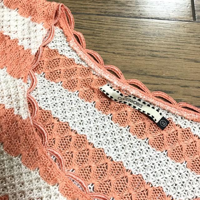 コルテスワークスパールボタン金糸ラメバイカラーボーダーニット < 女性ファッションの