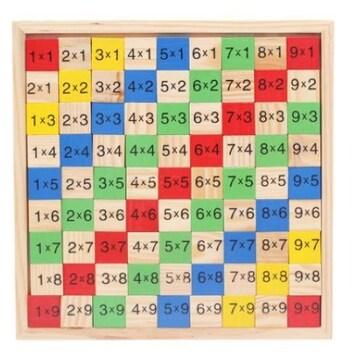 知育玩具 子供おもちゃ かけ算 九九 カラフルおもちゃ
