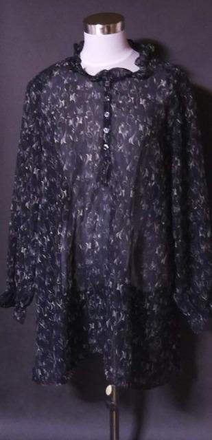 新品シースルーシャツ5L大きいサイズ < 女性ファッションの