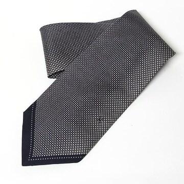 【グッチ/GUCCI】ネクタイ ブラック/グレー Gロゴ 美品