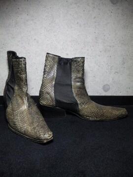 5351プールオム蛇革ブーツ靴〓アルフレッドバニスター系列