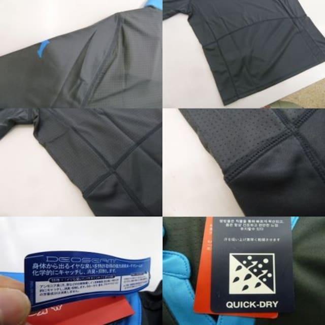 XO 灰)カッパ KF712TS12 半袖シャツ プラックティス 薄手吸汗速乾消臭 < レジャー/スポーツの