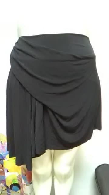 (ム)EGOIST/ エゴイスト・アシメ黒 ミニスカート  < ブランドの