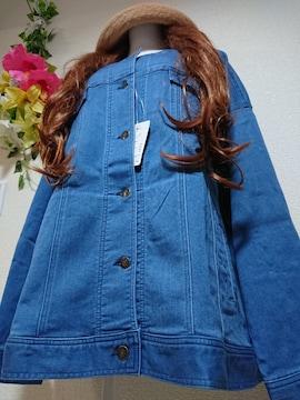 ★新品タグ8L★デニムジャケット¥7689★ストレッチ