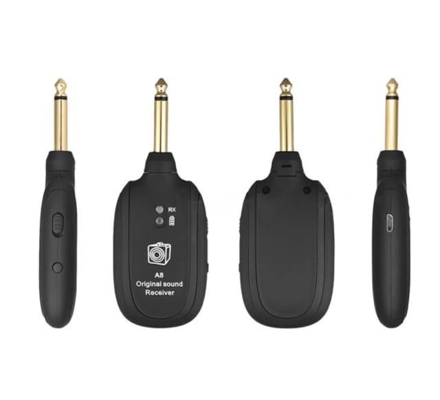 UHF ギターワイヤレスシステムトランスミッタレシーバ内蔵充電式 < ホビーの