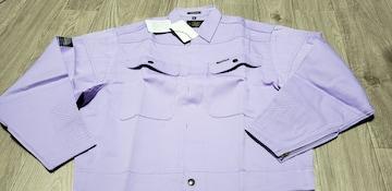 送料込★寅壱【2530.12パープル】ショートトビシャツA型.LL