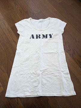 LOWRYS  FARM Tシャツ Mサイズ クリーム色