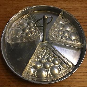 昭和レトロ ヴィンテージ 回転トレー ガラス食器
