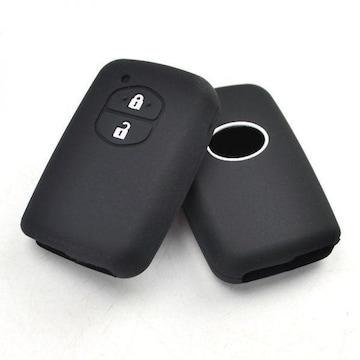 TOYOTAシリコン キー カバー/スマート キーレス黒トヨタ2ボタン