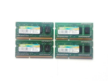 ★メモリ シリコンパワー PC3-12800 4GB 4個セット