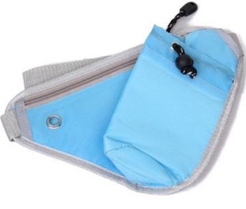 送料無料 ペットボトル入れ付き 斜め掛け バッグ ブルー