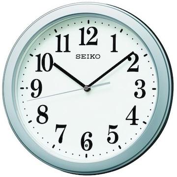 セイコー クロック 掛け時計 電波 アナログ 銀