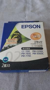 EPSONブラックカートリッジ1C1BK02W一個