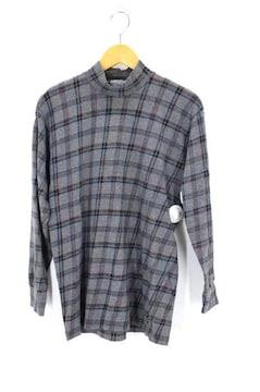 COMME des GARCONS HOMME(コムデギャルソンオム)90S チェック柄モックネックTシャツトッフ