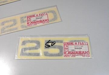 カワサキ F11 F11-A エンブレム1枚 絶版新品