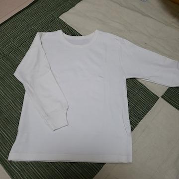 120cm 肌着? カットソー? アイボリー 長袖 シャツ