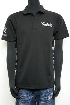 新品Norton 212N1200 DRYサイド刺繍ポロシャツ黒L