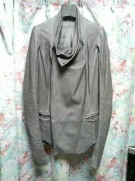 リックオウエンスrickowensレザージャケットコート40グレー