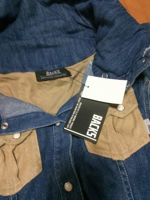 ◆BACKS ◆スエード切替デニムシャツ◆ < ブランドの