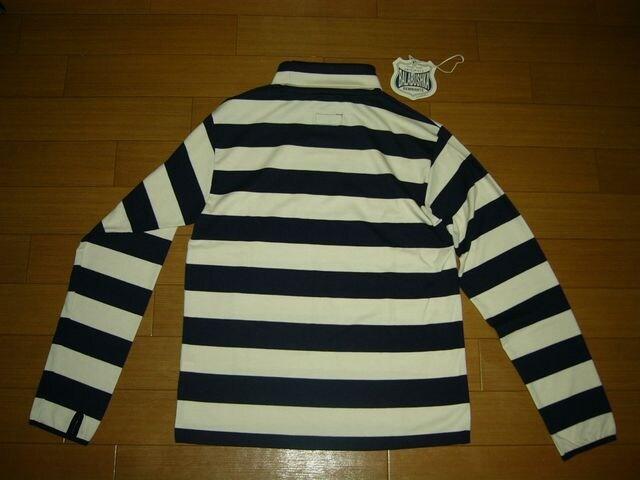 新品バラブシュカBALABUSHKAカットソー1紺白ボーダーロンTシャツ < 男性ファッションの
